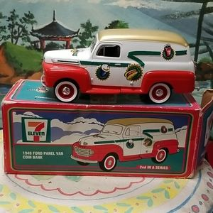 Vintage 1948 Ford panel van coin bank by 711
